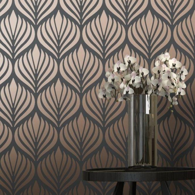 Shimmer Desire art deco wallpaper