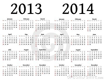 Stock Image Calendars for 2013 and 2014 Image 23551891