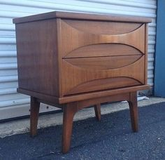 Mid Century Modern Sculpted And Bowed Nightstand End Table114 best Mid Century Modern Furniture images on Pinterest  . Mid Century Modern Lane Bedroom Furniture. Home Design Ideas