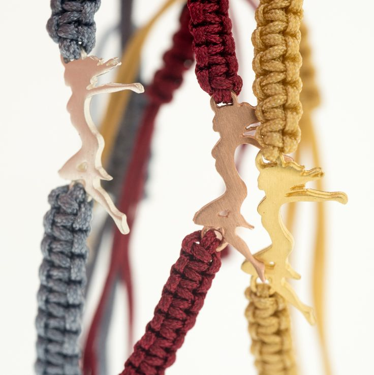 REINVENT YOURSELF By THE BRITELINE - Bracelets in sterling silver 925 gold plated on colorful cords