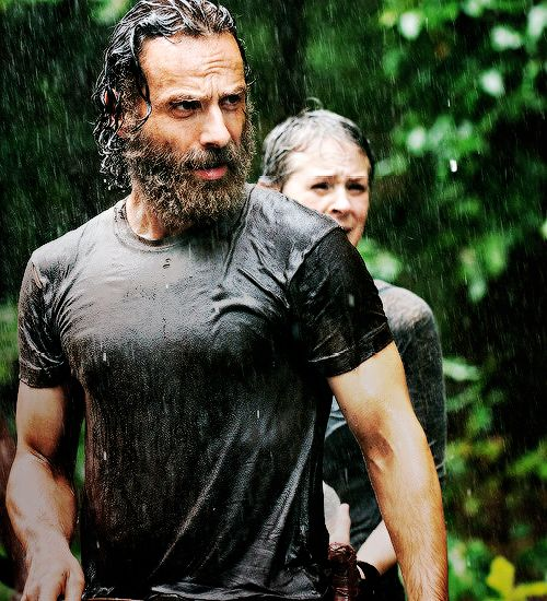 "Andrew Lincoln as Rick Grimes in The Walking Dead: S5, Ep. 10 ""Them"""