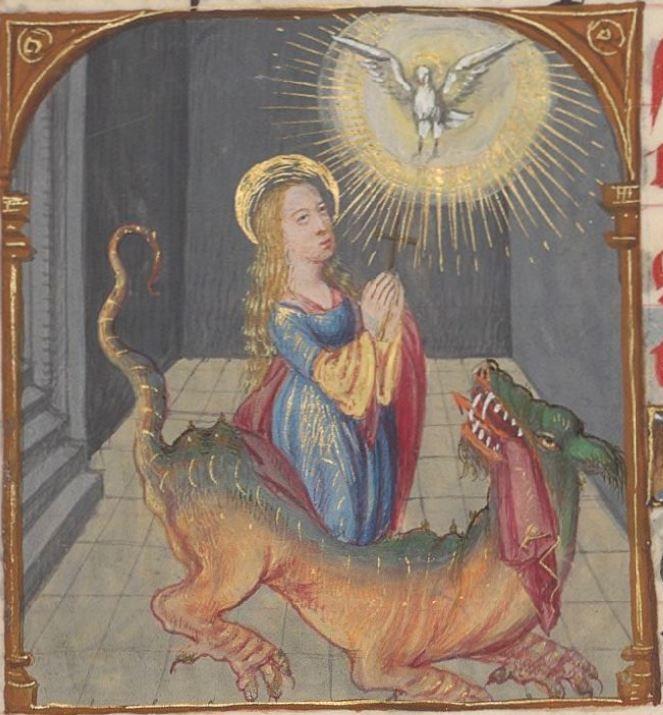 Livre d'heures, en latin et en français, à l'usage de Cambray  1401-1500  Ms-1185 réserve  Folio 285v
