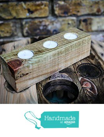 Triple Rustic Tea Light Holder made from Reclaimed Wood from MooBoo Home https://www.amazon.co.uk/dp/B01M0KNCW8/ref=hnd_sw_r_pi_dp_WITmyb713WYXB #handmadeatamazon
