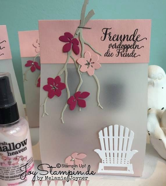 Instructions for the packaging of cream & shower cream - Stampin Up - Joy-Stampin Colorful Seasons Stamp Set, Seasonal Layers Thinlits Dies