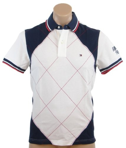 Tommy Hilfiger Mens Classic Fit Argyle Logo Polo « Shirt Add