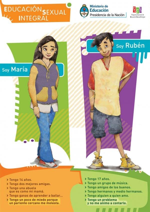 MATERIAL PARA DESCARGAR SOBRE EDUCACIÓN SEXUAL INTEGRAL – Fuente: Ministerio de Educación de la Nación