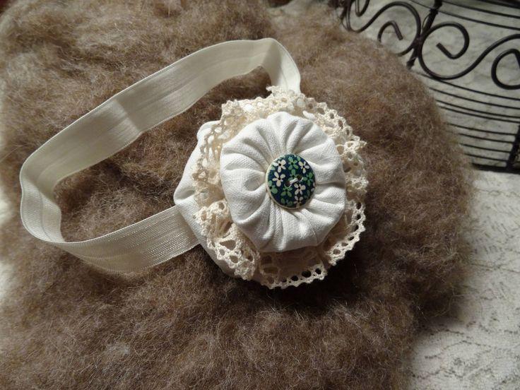 Baby Haarband vintage look Newborn photo prop Fotoaccessoires Baby Fotografie Kopfband Stirnband newborn shooting Requisiten HANDMADE von MoniCasaExclusive auf Etsy