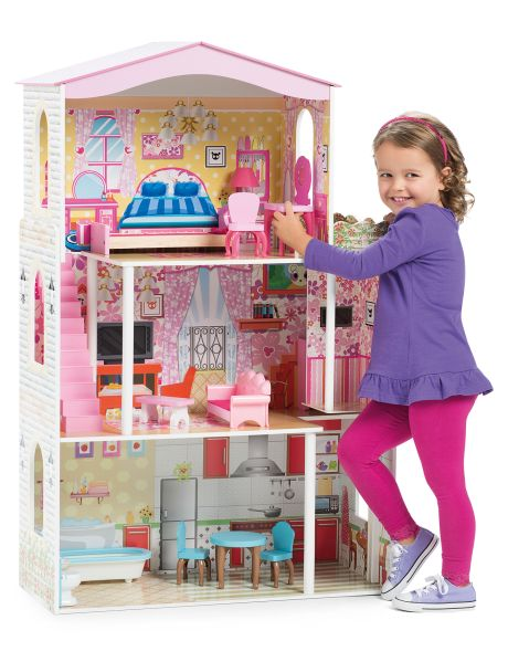 Fit all your dolls in this large dolls house.