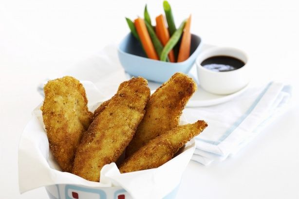 These tasty homemade jumbo chicken nuggets make a great children's meal or a snack for big kids.