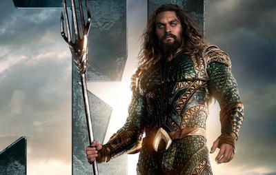 """Jason Momoa's Ripped AF Aquaman Poster for """"Justice League"""" is Perfect Inspiration  https://www.menshealth.com/fitness/jason-momoa-justice-league-aquaman-poster?utm_campaign=DailyDose"""