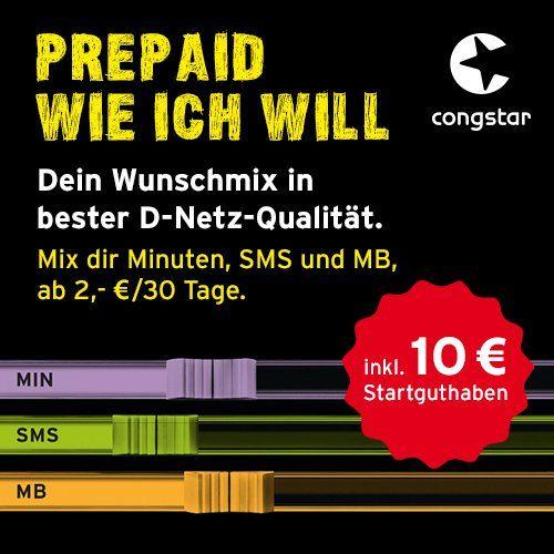#Sale congstar Prepaid wie ich #will SIM  #Micro SIM und #Nano SIM   Dein Wunschmix in …  #Sale Preisabfrage / congstar Prepaid wie ich #will [SIM, Micro-SIM und Nano-SIM]  Dein Wunschmix in bester D-Netz Qualitaet inkl. 10 EUR Startguthaben. Mix dir Allnet-Minuten, SMS und MB so wie du es brauchst, monatlich neu einstellbar  #Sale Preisabfrage   Optionen #fuer Allnet-Minuten, SMS und MB buchbar und flexibel monatlich neu http://saar.city/?p=34601