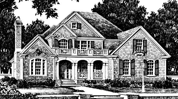 Floor plan with large porch could make look like for Southern living craftsman house plans
