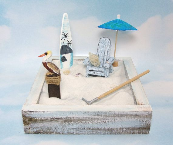 miniature zen beach garden kit crackle by EnchantingGardenArt