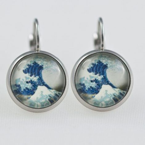 The Great Wave Hokusai dangle Earrings – Chica Manga