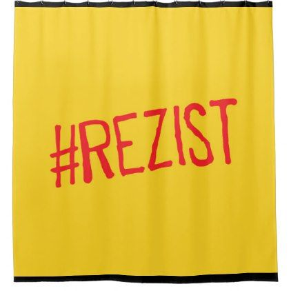rezist romania political slogan resist protest sym shower curtain - shower curtains home decor custom idea personalize bathroom
