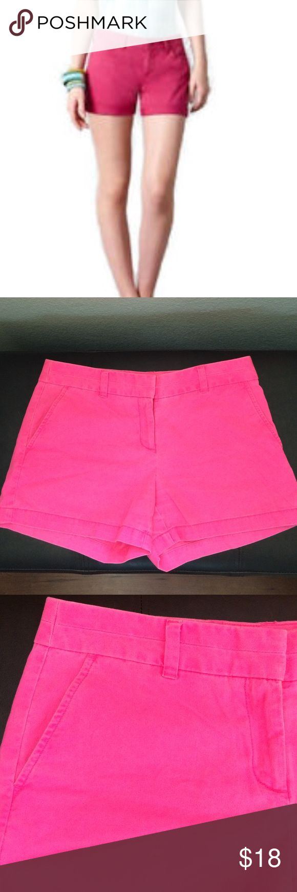 Ann Taylor LOFT Hot Pink Shorts A little more bright hot pink than the pictures show. Good condition, some fading. Size 2 original. LOFT Shorts