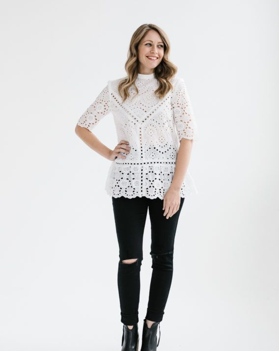 Summer Bloom Lace Top - White - Blossom & Glow