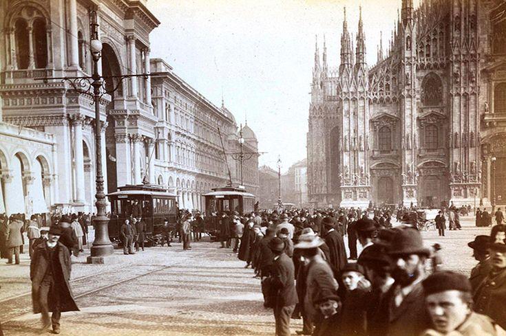 2 novembre 1893 - primo viaggio tram elettrico piazza del Duomo 6 | da Milàn l'era inscì