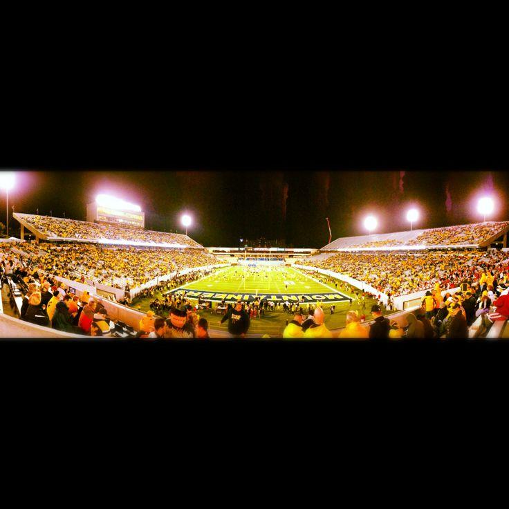 Mountaineer Field at Milan Puskar Stadium - Panorama taken from my seat on Nov. 17, 2012 for Oklahoma vs. West Virginia
