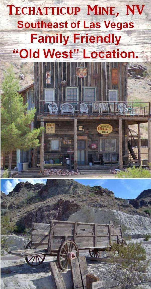"""Techatticup Mine, Nevada, just 45 minutes from Las Vegas in SE Nevada.  After the """"Old West"""" mine tour, the family will enjoy relaxing in a rocking chair on the porch or shopping inside the store looking old pictures and artifacts displayed on the walls.Click for mine tour information to explore this area on your next family vacation road trip."""