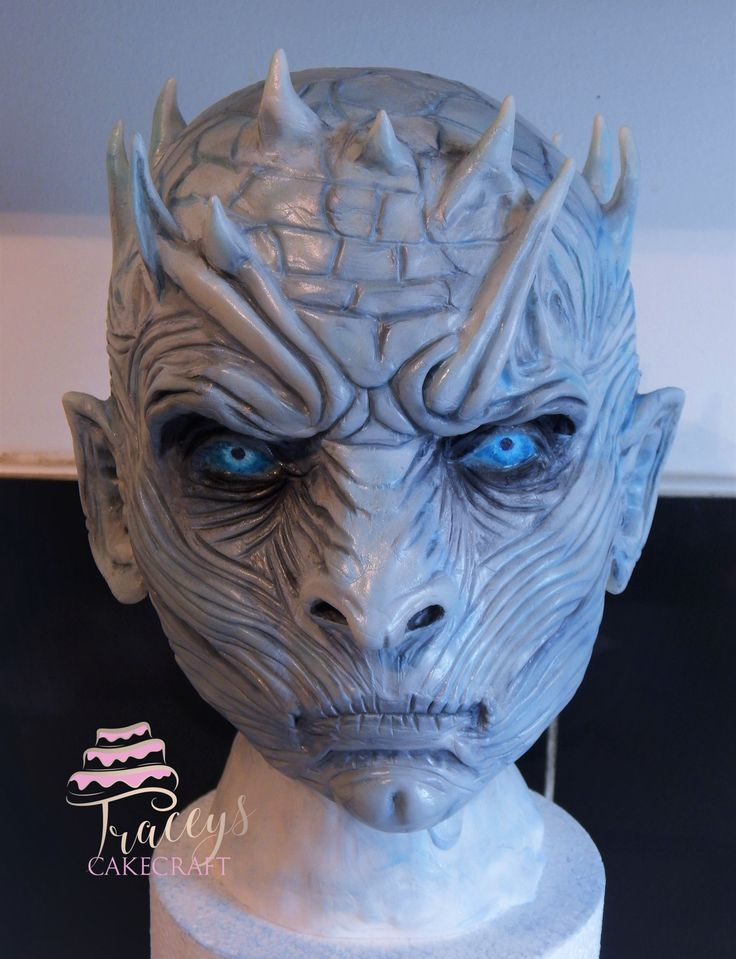 The Night King, Game of Thrones. Rkt, fondant & modelling chocolate. Now just need to make the body to attach this to!