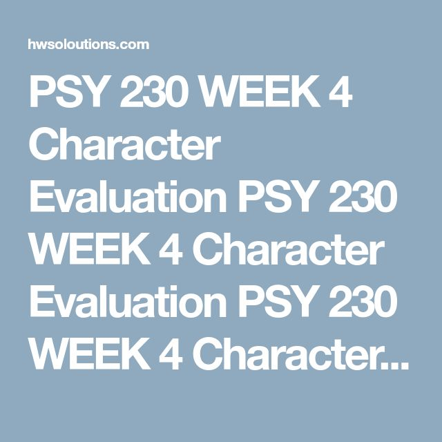 psy 230 week four the big five Hcs 120 week 1 medical terminology is a big world hcs 120 week 1 medical  five basic traits psy 230 week 4  psy 275 week 4 week four quiz psy 275.