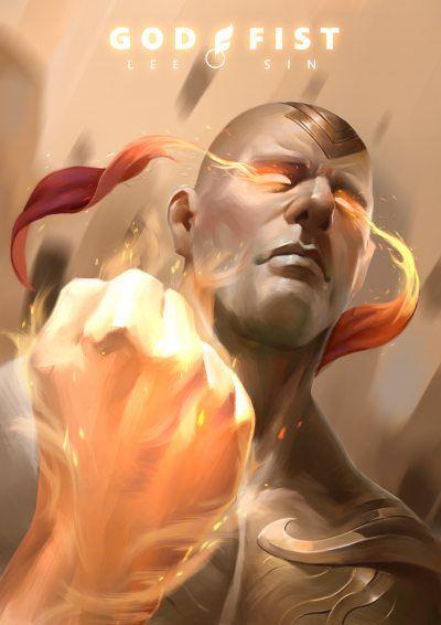 God Fist Lee Sin by hoanghung161093 HD Wallpaper Fan Art Artwork League of Legends lol