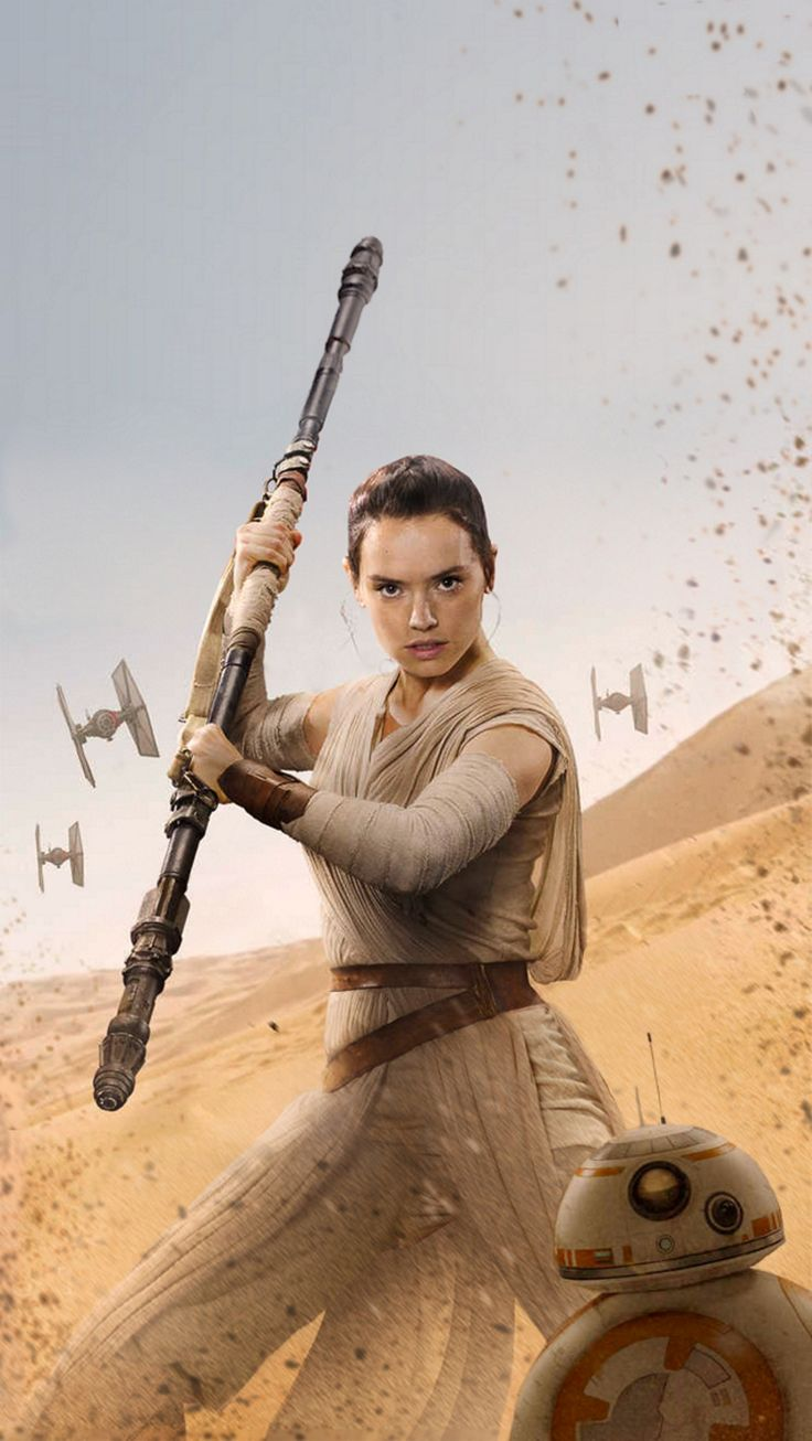 Force Awakens Rey [HiRes Textless Poster] by Lightsabered