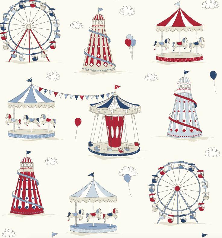 'Fun fair' novelty Children's fabric