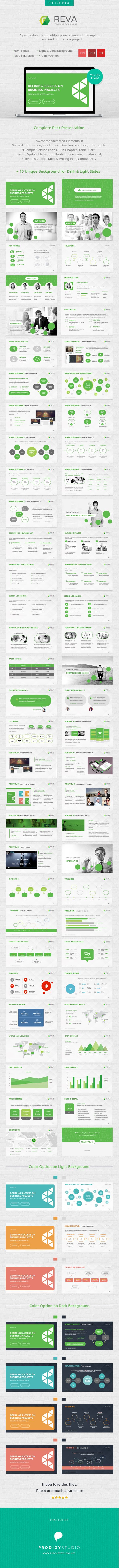 Reva Presentation Template is a part of our complete branding solution. This template is suitable for multi purpose business presentation such as IDENTITY presentation PHOTOGRAPHY presentation, Business presentation, SEO presentation, PRINT & DESIGN presentation, MOBILE APPLICATION presentation or many more.     Download here: http://graphicriver.net/item/reva-multi-purpose-presentation-template/6976012?ref=prodigystudio