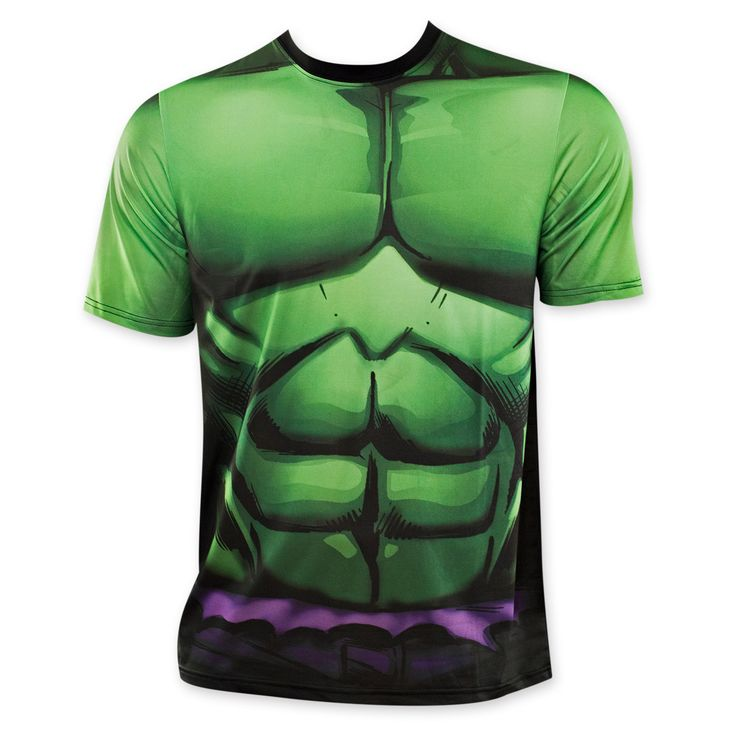 Marvel The Incredible Hulk Sublimated Costume Tee Shirt (Small) Men's