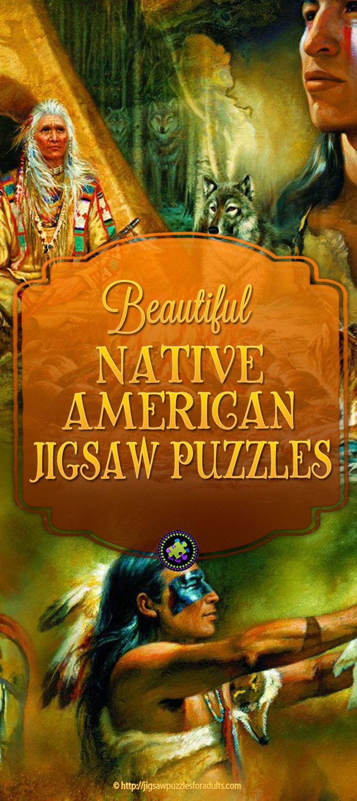 Love these Native American Jigsaw Puzzles from the artwork of well known artists of Native American and Aboriginal people.