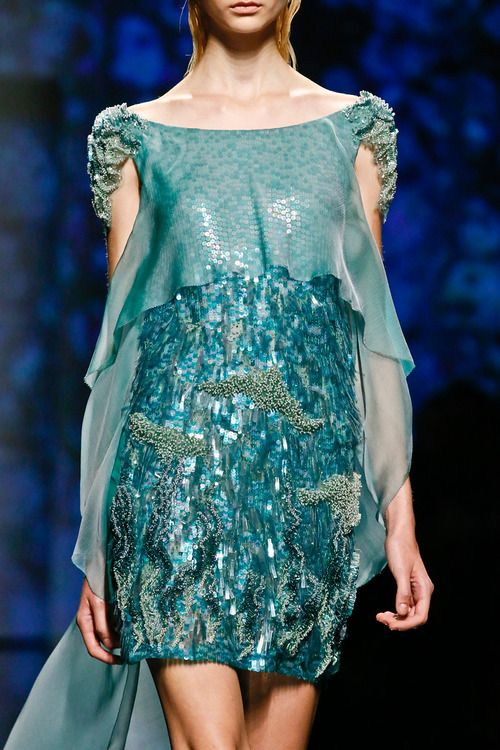 Milan Fashion Week SS 2013, Alberta Ferretti show, love this color scheme