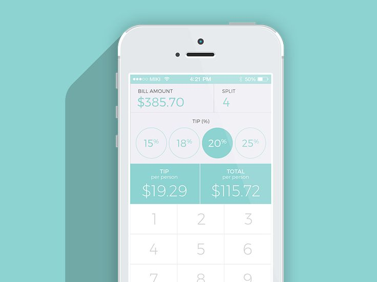 I am a little bit behind but this is my day 4 UI, calculator. I decided to design a tip calculator since I would be using it a lot.