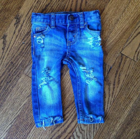 Skinny Mini distressed baby or toddler jeans by LittleBuddyApparel