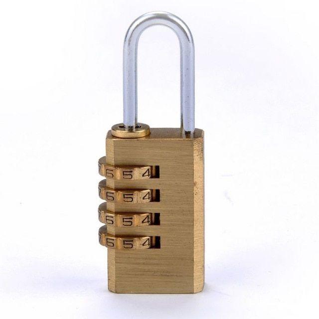 1pcs Mini 4 Digits Number Password Code Lock Combination Padlock Resettable Review Lock Padlock Door Locks