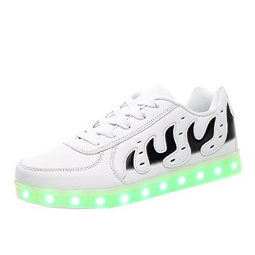 Luminous Shoes Flames Adults is used of stylish flame design, high quality  materials, colorful LED lights, skidproof outsole and so on.