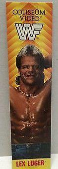 (TAS004163) - WWE WWF WCW Wrestling Bookmark - Lex Luger