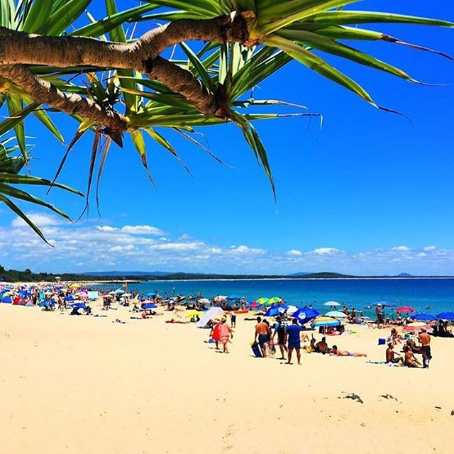 A sea of colour at Noosa Main Beach!  the perfect place to go for a dip is the safe waters of Noosa Main Beach, one of Australia's few north-facing beaches.