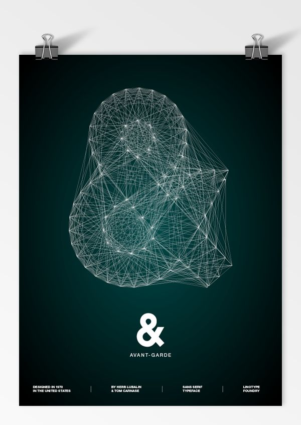 Galaxy Type Posters by Romain Roger, via Behance