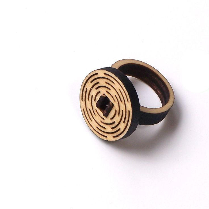 Elegant wooden jewelry by ardeola - 20USD - http://www.ardeola.hu/index.php/products-menu?view=project&id=27:wooden-ring-model-10
