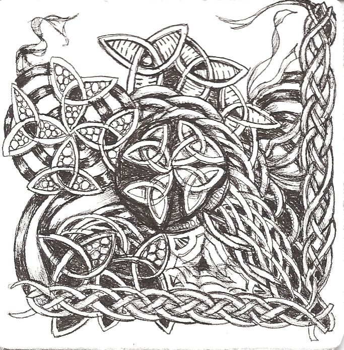 viking zentangle