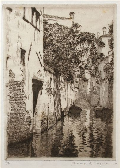 Clarence Gagnon Canal San Agostino, Venice Artwork by Clarence Gagnon, Canal San Agostino, Venice, Made of Etching © Images are copyright of their respective owners, assignees or others Artwork Details Dimensions: 8 X 5.8 in (20.32 X 14.73 cm) Medium: Etching Creation Date: 1906 Edition Number: 13/30 Signed