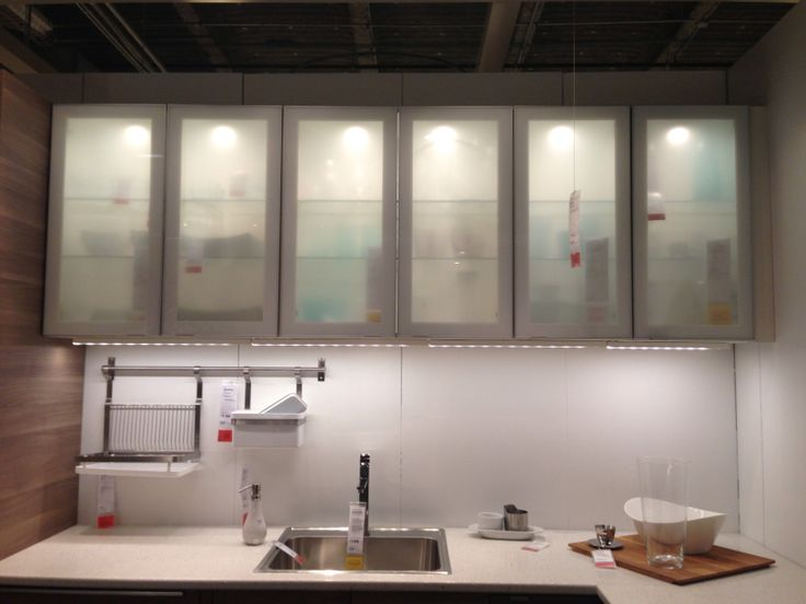 Ikea cabinet frosted glass kitchen | Home | Pinterest | Ikea ...