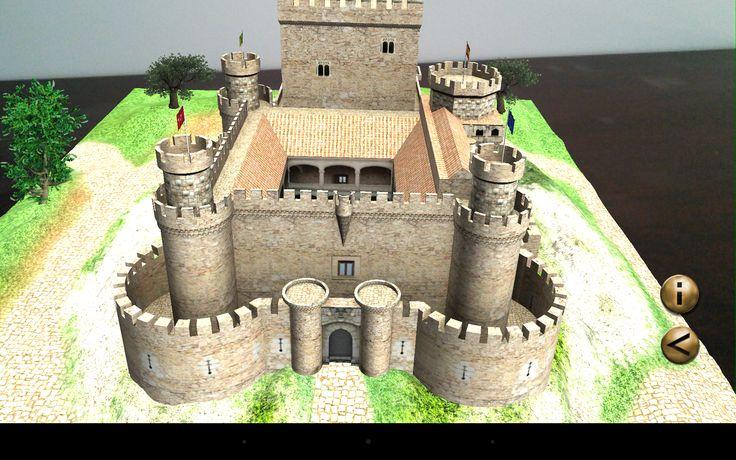 Le donjon du château de Manzanares El Real en réalité augmentée 3D
