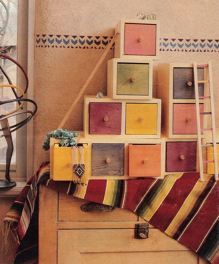 Cute storage boxes. Would probably not do the Southwestern theme with them though.