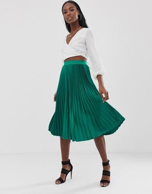 a4b8880040 Outrageous Fortune Tall midi skater skirt in green en 2019 | style ...
