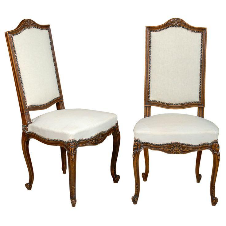 image for cabriole leg vintage louis xv set of six dining chairs - Set Of Six Dining Room Chairs