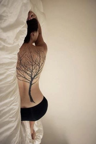 full back tree tattoo- maybe on a smaller scale. Love this!