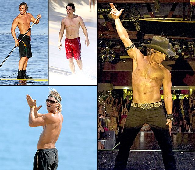 Matthew McConaughey's Hottest Shirtless Moments-alright, alright....